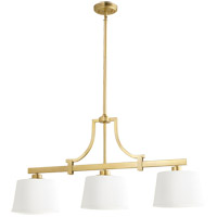 Quorum 6507-3-80 Lancaster 3 Light 39 inch Aged Brass Island Light Ceiling Light