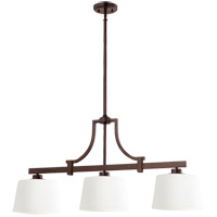 Quorum 6507-3-86 Lancaster 3 Light 39 inch Oiled Bronze Island Light Ceiling Light