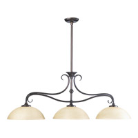 Powell 3 Light 44 inch Toasted Sienna Island Light Ceiling Light