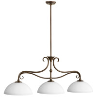 Quorum 6508-3-86 Powell 3 Light 44 inch Oiled Bronze Island Light Ceiling Light