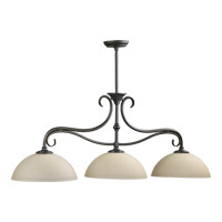 Quorum 6508-3-95 Powell 3 Light 44 inch Old World Island Light Ceiling Light