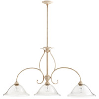 Spencer 45 inch Persian White Island Light Ceiling Light, Clear Seeded