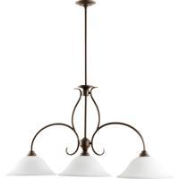 Quorum 6510-3-186 Spencer 3 Light 45 inch Oiled Bronze Island Light Ceiling Light