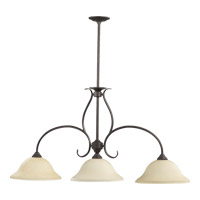 Quorum 6510-3-44 Spencer 3 Light 45 inch Toasted Sienna Island Light Ceiling Light