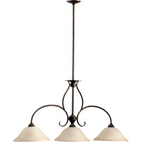Quorum 6510-3-86 Spencer 3 Light 45 inch Oiled Bronze Island Light Ceiling Light