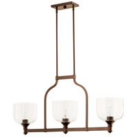Quorum 6511-3-186 Richmond 3 Light 38 inch Oiled Bronze Island Light Ceiling Light