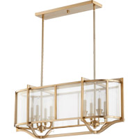 Quorum International Highline 8 Light Island Light in Aged Brass 652-8-80