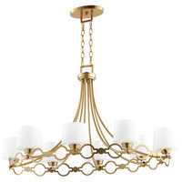 Quorum 6521-8-80 Durand 8 Light 23 inch Aged Brass Chandelier Ceiling Light