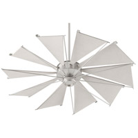 Quorum 65210-65 Mykonos 52 inch Satin Nickel with Gray Blades Ceiling Fan