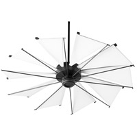 Quorum 65210-69 Mykonos 52 inch Noir with White Blades Ceiling Fan
