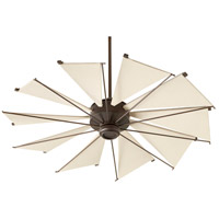 Quorum 65210-86 Mykonos 52 inch Oiled Bronze with Khaki Blades Ceiling Fan
