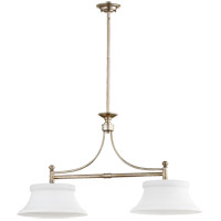 Quorum 6522-2-60 Rossington 2 Light 36 inch Aged Silver Leaf Island Light Ceiling Light