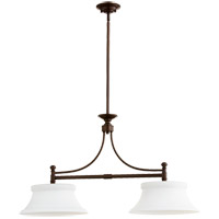 Quorum 6522 2 86 Rossington 2 Light 36 Inch Oiled Bronze Island Light Ceiling Light