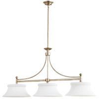 Quorum 6522-3-60 Rossington 3 Light 46 inch Aged Silver Leaf Island Light Ceiling Light
