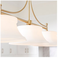 Quorum 6522-3-80 Rossington 3 Light 46 inch Aged Brass Island Light Ceiling Light alternative photo thumbnail