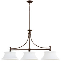 Quorum 6522-3-86 Rossington 3 Light 46 inch Oiled Bronze Island Light Ceiling Light