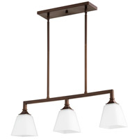 Quorum 6523-3-86 Wright 3 Light 32 inch Oiled Bronze Island Light Ceiling Light