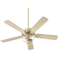 Quorum 6525-2280 Virtue 52 inch Aged Brass with Matte Black and Weathered Oak Blades Ceiling Fan Quorum Home