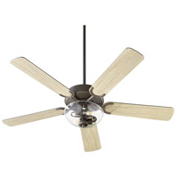 Quorum 6525-2286 Virtue 52 inch Oiled Bronze with Oiled Bronze and Weathered Oak Blades Ceiling Fan Quorum Home