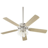 Quorum 6525-2365 Virtue 52 inch Satin Nickel with Silver and Weathered Gray Blades Ceiling Fan Quorum Home
