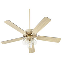 Quorum 6525-2380 Virtue 52 inch Aged Brass with Matte Black and Weathered Oak Blades Ceiling Fan Quorum Home