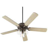 Quorum 6525-2386 Virtue 52 inch Oiled Bronze with Oiled Bronze and Weathered Oak Blades Ceiling Fan Quorum Home