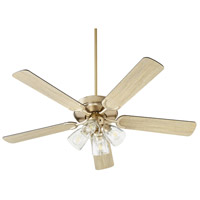 Quorum 6525-2480 Virtue 52 inch Aged Brass with Matte Black and Weathered Oak Blades Ceiling Fan, Quorum Home