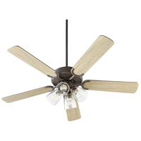 Quorum 6525-2486 Virtue 52 inch Oiled Bronze with Oiled Bronze and Weathered Oak Blades Ceiling Fan Quorum Home