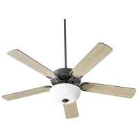 Quorum 6525-259 Virtue 52 inch Matte Black with Matte Black and Weathered Gray Blades Ceiling Fan Quorum Home
