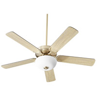 Quorum 6525-280 Virtue 52 inch Aged Brass with Matte Black and Weathered Oak Blades Ceiling Fan Quorum Home