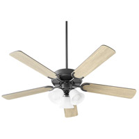 Quorum 6525-359 Virtue 52 inch Matte Black with Matte Black and Weathered Gray Blades Ceiling Fan Quorum Home