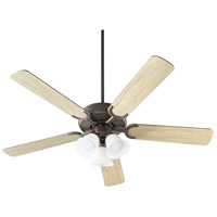 Quorum 6525-386 Virtue 52 inch Oiled Bronze with Oiled Bronze and Weathered Oak Blades Ceiling Fan Quorum Home