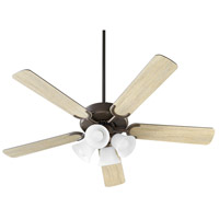 Quorum 6525-486 Virtue 52 inch Oiled Bronze with Oiled Bronze and Weathered Oak Blades Ceiling Fan Quorum Home