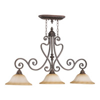 Summerset 3 Light 44 inch Toasted Sienna Island Light Ceiling Light