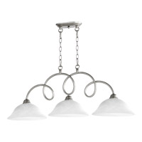 Quorum International Maris 3 Light Island Light in Classic Nickel 6527-3-64