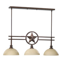 Lone Star 3 Light 36 inch Toasted Sienna Island Light Ceiling Light