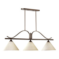 Quorum 6529-3-186 Winslet II 3 Light 49 inch Oiled Bronze Island Light Ceiling Light