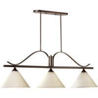 Quorum 6529-3-186 Winslet Ii 3 Light 49 inch Oiled Bronze Island Light Ceiling Light
