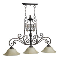 Quorum International Marcela 3 Light Island Light in Oiled Bronze 6531-3-86