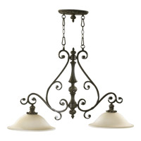 Quorum 6532-2-54 Fulton 2 Light 42 inch Classic Bronze Island Light Ceiling Light