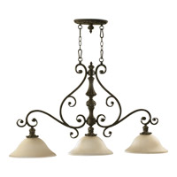 Quorum International Fulton 3 Light Island Light in Classic Bronze 6532-3-54