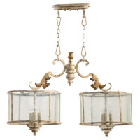 Quorum 6537-6-70 Florence 6 Light 36 inch Persian White Island Light Ceiling Light