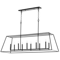Quorum 654-10-69 Gabriel 10 Light 54 inch Noir Linear Pendant Ceiling Light, Quorum Home