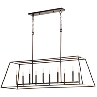 Quorum 654-10-86 Gabriel 10 Light 17 inch Oiled Bronze Foyer Pendant Ceiling Light, Quorum Home