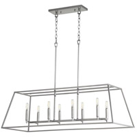 Quorum 654-8-64 Gabriel 8 Light 45 inch Classic Nickel Linear Pendant Ceiling Light, Quorum Home