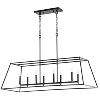 Quorum 654-8-69 Gabriel 8 Light 45 inch Noir Linear Pendant Ceiling Light, Quorum Home