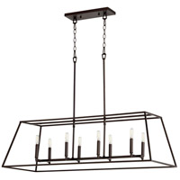 Quorum 654-8-86 Gabriel 8 Light 17 inch Oiled Bronze Foyer Pendant Ceiling Light, Quorum Home