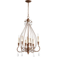 Quorum Venice 8 Light Chandelier in Vintage Copper 6544-8-39