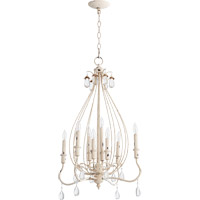 Quorum Venice 8 Light Chandelier in Persian White 6544-8-70