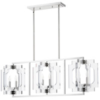 Quorum 655-6-62 Broadway 6 Light 46 inch Polished Nickel Island Light Ceiling Light